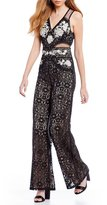 Sugar Lips Sugarlips Embroidered Lace Jumpsuit