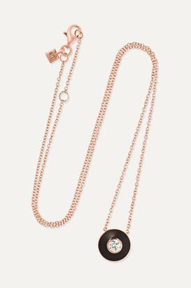 Selim Mouzannar Mina 18-karat Rose Gold, Enamel And Diamond Necklace