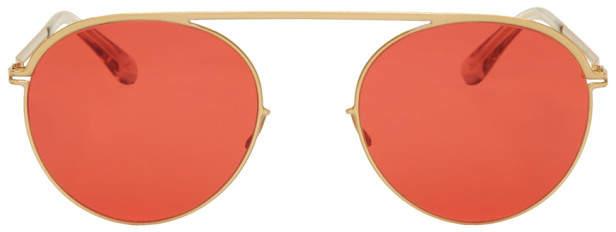 Mykita Gold and Red Studio5.1 Sunglasses