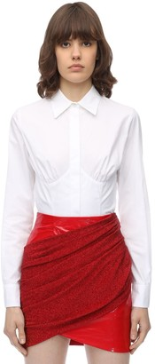 Sara Battaglia Corset Cotton Poplin Shirt