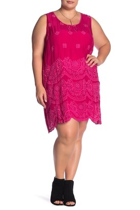 Johnny Was Tiered Eyelet Tank Dress (Plus Size)