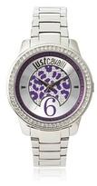 Just Cavalli Women's R7253196501 Purple Leopard Shiny Stainless Steel Watch
