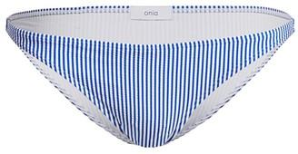 Onia Ashley Striped Bikini Bottom