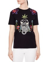 Sandro Jungle Embroidered Tee