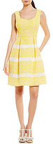 Adrianna Papell Lemon Drop Fit & Flare Dress