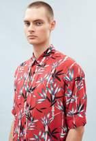 No Red Boxy Bamboo Print Shirt