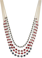 INC International Concepts Gold-Tone Multi-Bead Layer Necklace, Only at Macy's