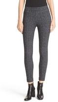 Theory 'Adbelle K' Tweed Print Stretch Twill Leggings