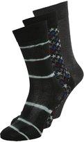 Converse 3 Pack Socks Black Charcoal/black