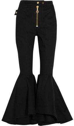 Ellery Alejandro Cropped High-Rise Flared Jeans