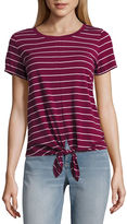 A.N.A a.n.a Short Sleeve Scoop Neck Stripe T-Shirt-Womens
