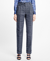 Brooks Brothers Wide-Leg Cuffed Pants