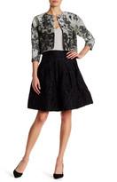 Oscar de la Renta Textured Pleated Full Skirt
