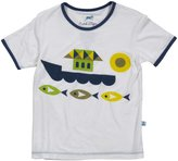 Kickee Pants Piece Print Tee (Toddler/Kid) - Fish & Boat-8