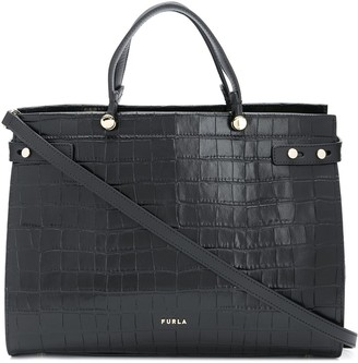 Furla Lady M crocodile-effect tote bag