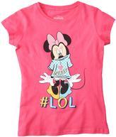 "Disney Girls' ""I Love Mickey #LOL"" Graphic Tee"