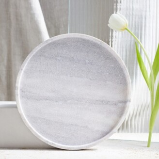 The White Company Marble Round Board, Grey / Stone, One Size