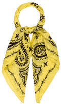 Zadig & Voltaire Paisley Printed Cotton Scarf