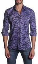 Jared Lang Men's Trim Fit Long Sleeve Camo Sport Shirt