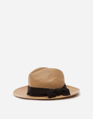 Dolce & Gabbana Panama Hat In Paper Yarn