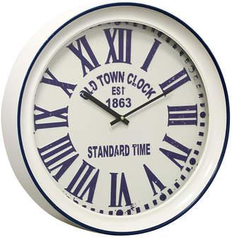 Stylecraft Metal and Glass Wall Clock