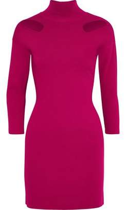 Stella McCartney Cutout Stretch-knit Turtleneck Mini Dress
