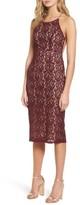 Soprano Women's Lace Halter Midi Dress