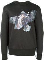 Neil Barrett angel and eagle print sweatshirt