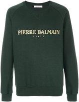 Pierre Balmain logo print sweatshirt