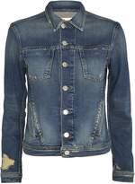 L'Agence Celine Femme Distressed Denim Jacket