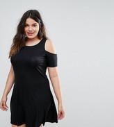Junarose Cold Shoulder Jersey Dress