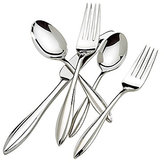 Lenox Sculpt Modern 65-Piece Stainless Steel Flatware Set