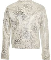 River Island Girls light grey metallic sweatshirt