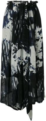 Y's Tie Dye Print Skirt