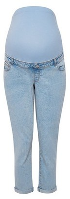 Dorothy Perkins Womens Maternity Blue Mom Denim Jeans, Blue