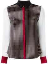 GUILD PRIME contrast striped blouse