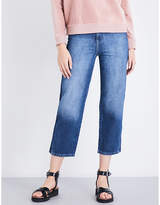 Whistles Striped-side wide high-rise jeans