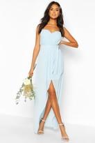 boohoo Bridesmaid Occasion Bandeau Pleated Maxi Dress