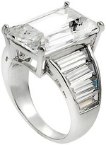 Journee Collection 1 5/8 CT. T.W. Emerald-cut CZ Basket Set Engagement Ring in Sterling Silver - Silver