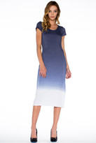 Saint Grace Tilly Midi Dress In Ink Ombre Wash