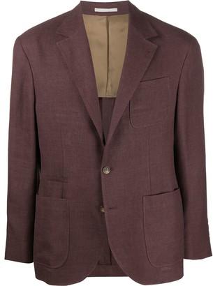 Brunello Cucinelli Flax Weave Blazer
