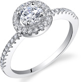 Ice 3/4 CT TW Cubic Zirconia Polished Sterling Silver Engagement Ring