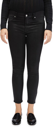 Maternity Coated Ankle Skinny Jeans