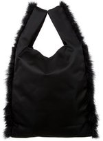 Simone Rocha Feather Trim Shopper Bag