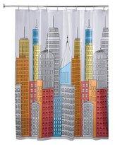 InterDesign Metropolitan Shower Curtain, 72 x 72, Bright/Multi