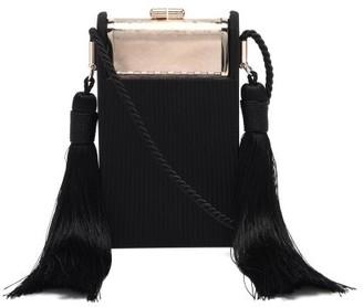 BIENEN-DAVIS Box Satin & Palladium Minaudiere Cross-body Bag - Black Multi
