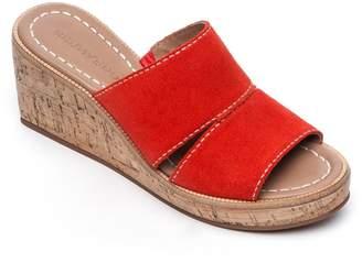 Bernardo Kami Suede Wedge Heel Sandal