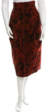 Marc Jacobs Velvet Midi Skirt
