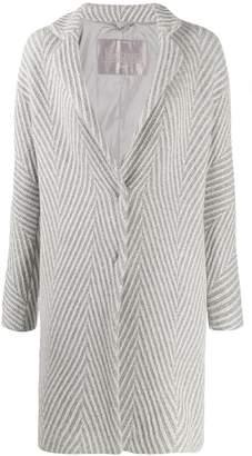 Herno geometric pattern single-breasted coat