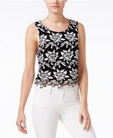 Bar III Crochet-Lace Top, Created for Macy's